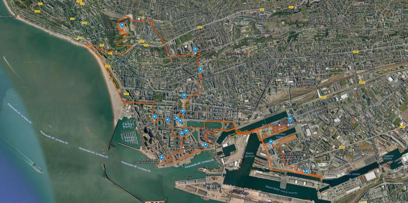 notre parcours au Havre